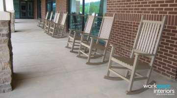 Kingsport Aquatic Center outdoor photo of rocking chairs