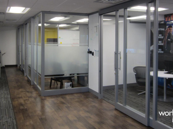 3 Minute Magic Car Wash architectural walls installed by Workspace Interiors Inc.