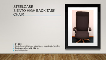 Steelcase Siento High Back Task Chair for sale