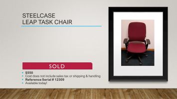 pic of Steelcase leap chair sold