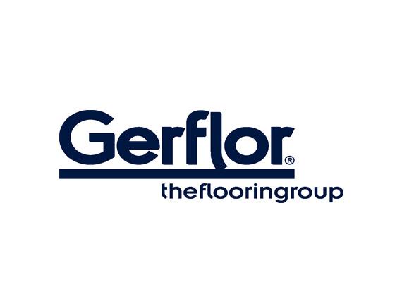 Gerflor logo blue white background