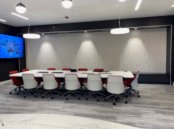 TEVET LLC conference room furniture provided by Workspace Interiors Inc.