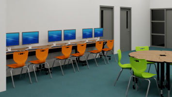 wartburg tn central high school rendering library renovations
