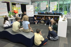 The Bright School Chattanooga Active Learning Classroom with students