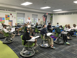 The Bright School Chattanooga Active Learning Classroom with teacher and students