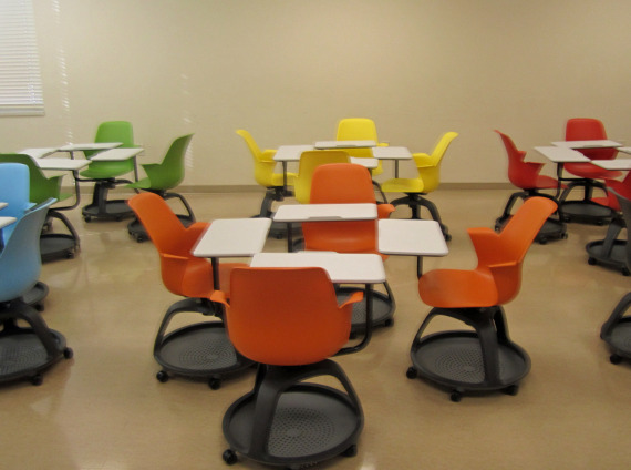 Northeast State Community College classroom with Node chairs by Steelcase by Workspace Interiors Inc.