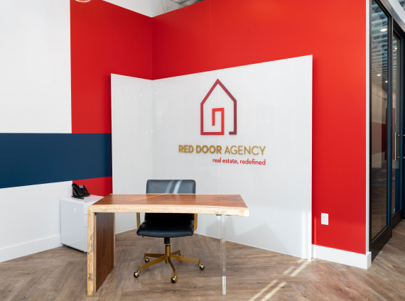 Red Door Agency Kingsport interior photo of signage