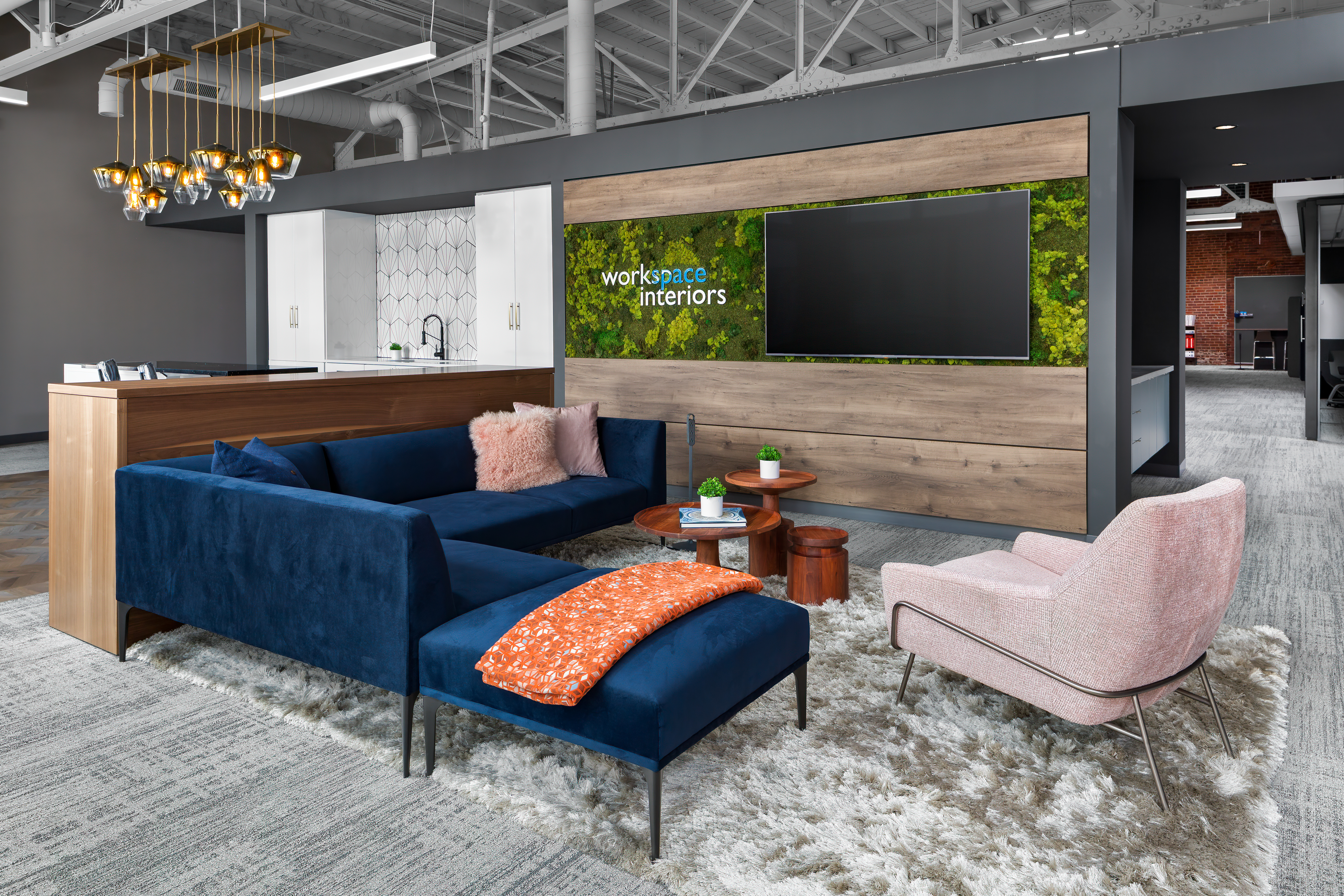 WorkSpace Interiors informal social space with technology